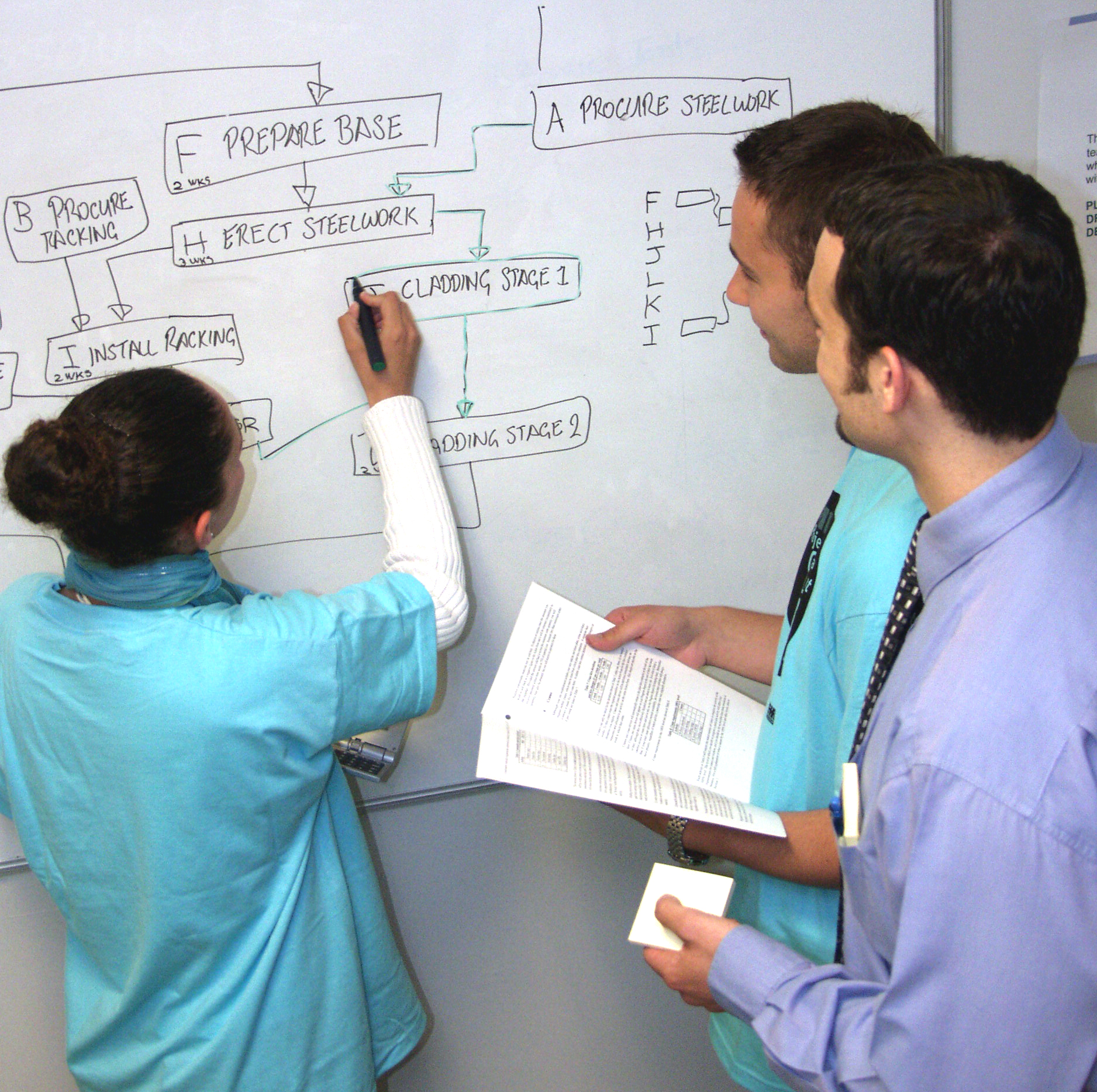students in a classroom simulatio