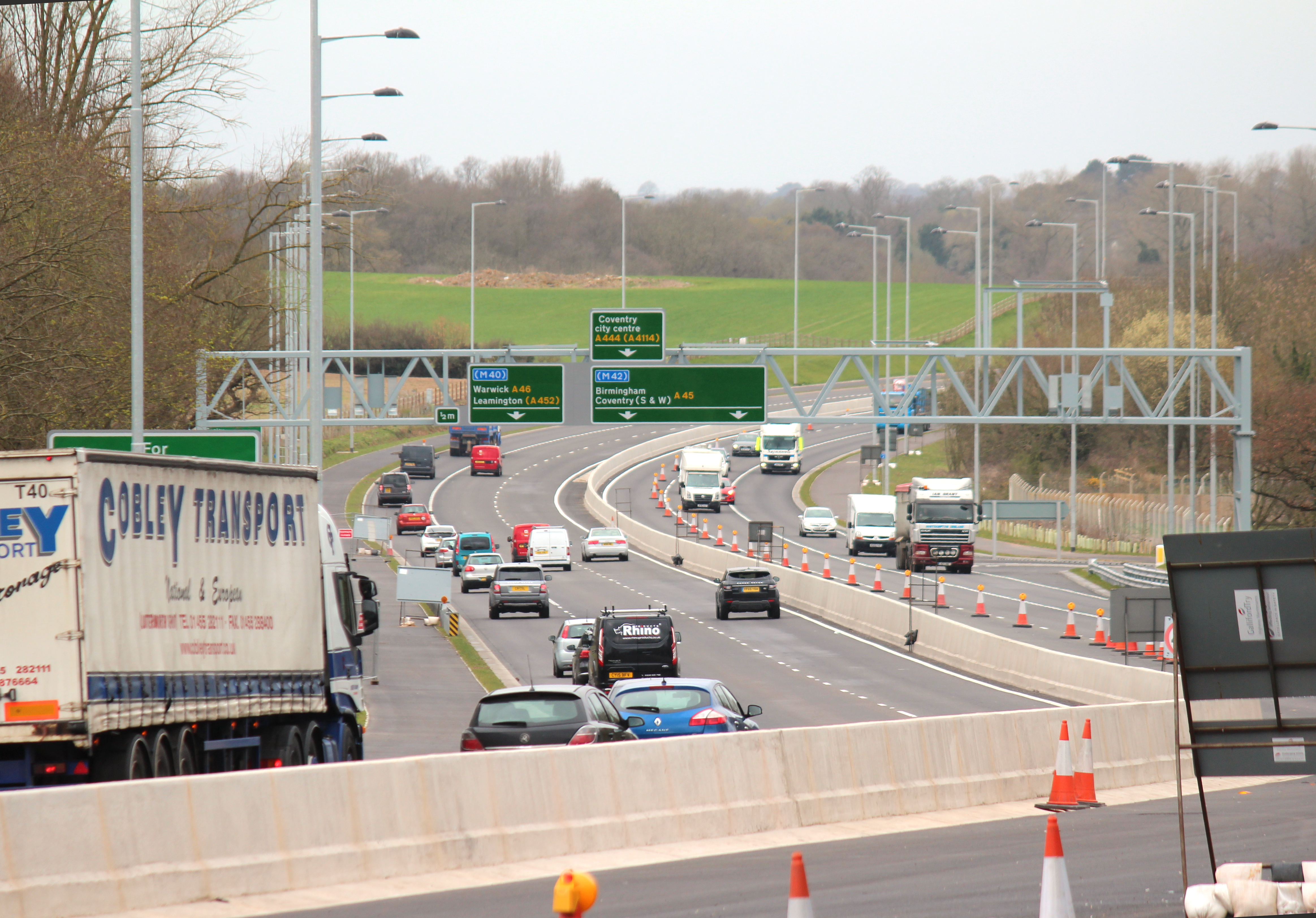 A45 North View from Tollbar Island