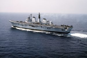 HMS Invincible, decommissioned 2005, sold for scrap in 2011