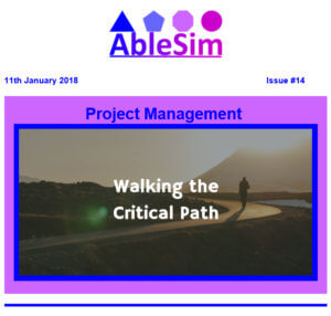 AbleSim Info-Letter Header Image Project Management Information