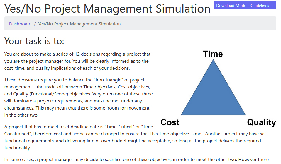 Project Management: Simulation
