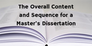 Content and Order for a Dissertation
