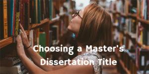 Choosing a Dissertation Title