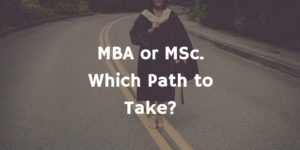MBA or MSC