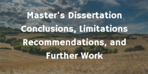 Masters Dissertation Conclusion