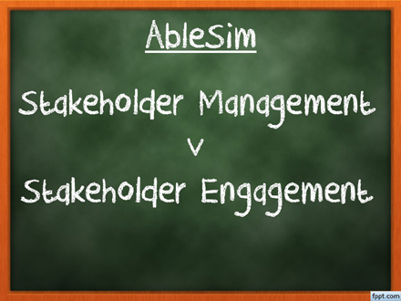 Stakeholder Management and Engagement