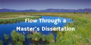 Flow Through a Dissertation
