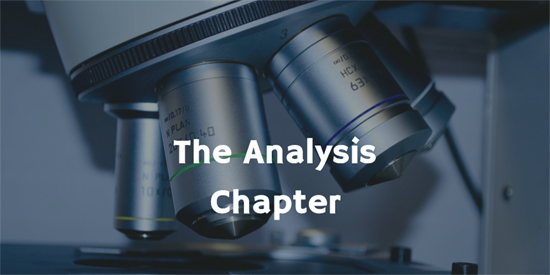 The Analysis Chapter