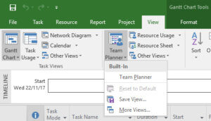 Team Planner View Tab