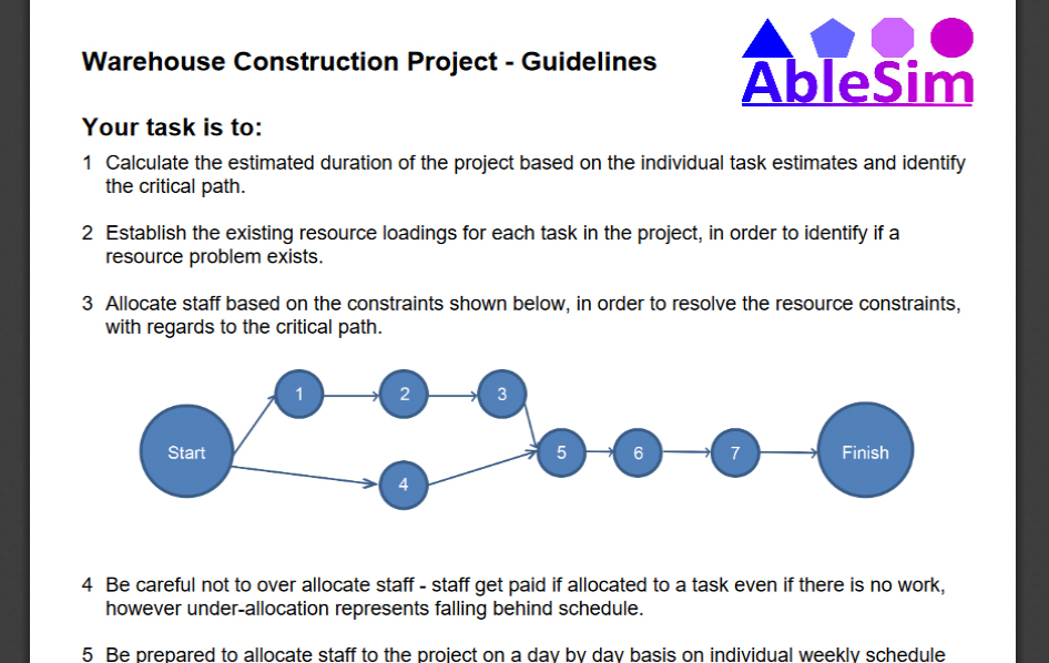 Warehouse Construction Project Instructions