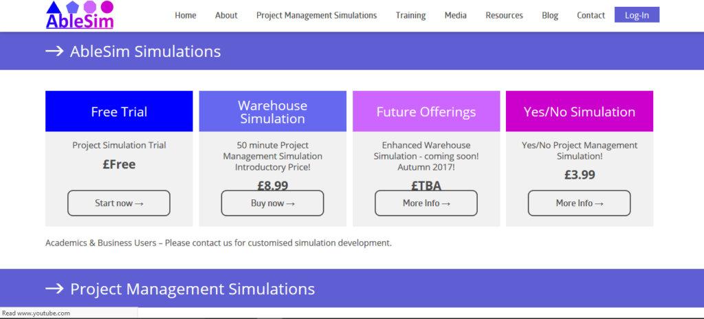 Warehouse Construction Simulation Webpages