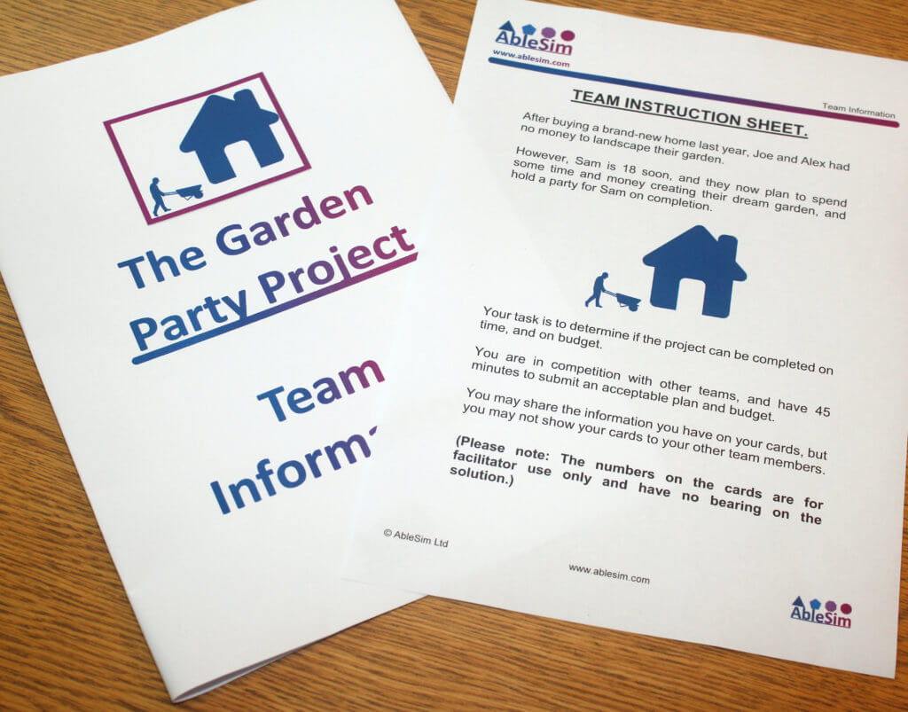 The Garden Party Project Team Information