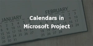 Calendars in MS Project