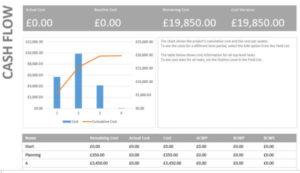Microsoft Project Cash Flow Report