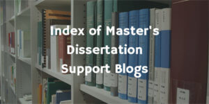 Index of Masters Dissertation Support Blogs