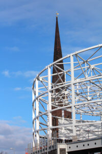 New Pool and Christchurch Spire