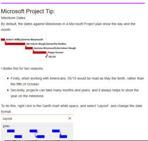 Microsoft Project Tip