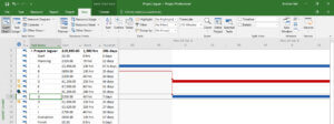 Microsoft Project Zoomed In