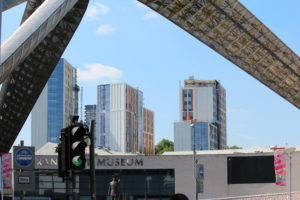 Bishop Street Towers Viewed Through the Whittle Arch