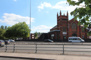 Queens Road Church at Coventry Ring Road Junction 6