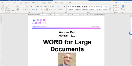 WORD for Large Documents