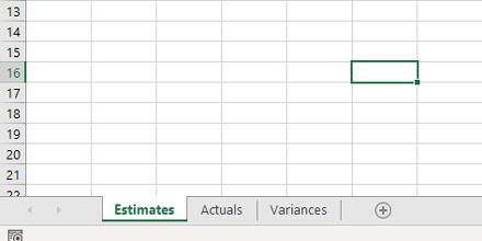 Estimates Actuals Variances