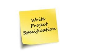 Write Project Specificiation PostItNote