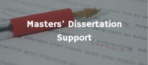 Master's Dissertation Support