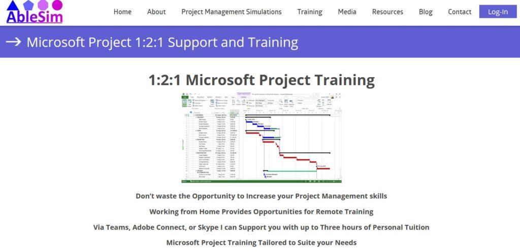 Microsoft Project Landing Page